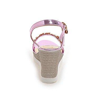 LvYuan Da donna Sandali Scarpe formali Finta pelle Primavera/Autunno Estate Casual Formale Serata e festa Scarpe formali Con diamantini ZeppaOro blushing pink