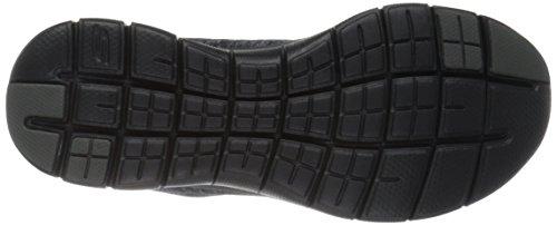 Skechers Flex Appeal 2.0, Chaussures Multisport Outdoor Femme Noir (Bkcc Noir/Gris)