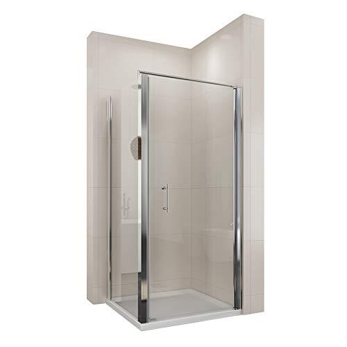 duschtrennwand eckeinstieg Neueröffnung 900x900mm Duschkabine Rechteck Eckeinstieg Rahmenlos Schwingtür + Seitenwand