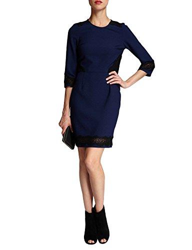 Morgan - Robe  - Uni - Manches 3/4 - Femme Bleu (Marine)