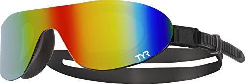 TYR Mirrored Swim Shades, unisex, Mirrored, Rainbow/Black/Black
