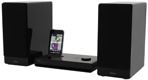 Eltax Micro Dockingstation für Apple iPhone/iPod (120 Watt, AUX-IN) schwarz