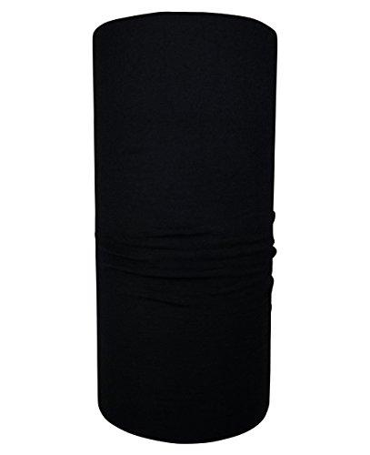 Hilltop tubolare panno/foulard / panno multifunzionale% poliestere 100 / tinta unita, nero