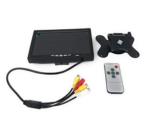 LCD-Display, HD, TFT, 7Zoll / 17,8 cm, 1024x 600Pixel, Anschlüsse: HDMI, VGA, AV