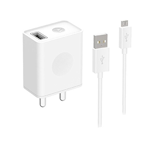 Motorola USB Rapid Charger with Micro-USB Data Cable for Moto E, Moto G5, Moto G4 Play