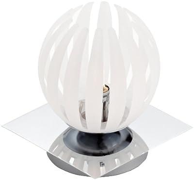 Trio-Leuchten 594010101 Tischleuchte Touch me inklusiv 1x G9, 28 W Eco, 4-fach schaltbar, Chrom, Acrylstäbe weiß satiniert von Trio Leuchten - Lampenhans.de