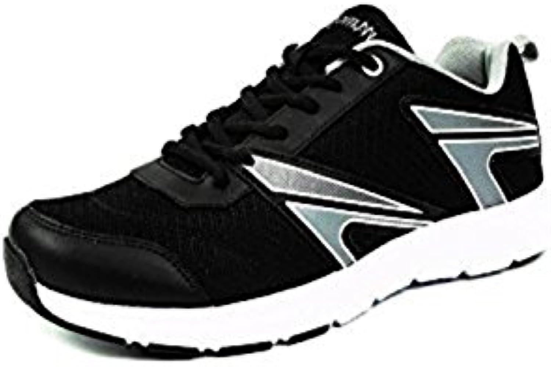 Mmojah Men Energy 33 Black/Light Grey/White Running Sports Shoes 6