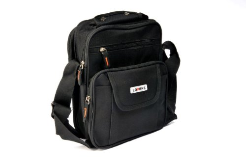 Unisex Medium Polyester Travel Organiser Gadget Pouch Bag (Black)