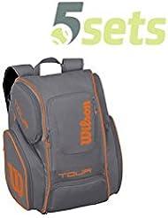 Wilson Tour V Backpack Large Grey, Naranja FS17