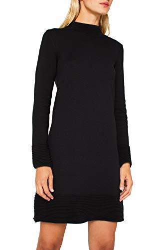 ESPRIT Damen 109Ee1E013 Kleid, Schwarz (Black 001), Small (Herstellergröße: S)