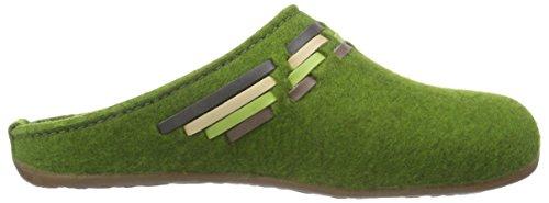 Haflinger Tape, Damen Pantoffeln Grün (36 grasgrün)