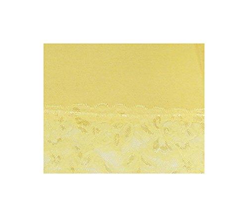 elegantes langes Spitzen-Top in wunderschönen Farben Gr. 34-38 und Gr. 40-44 S&LU Zitrone
