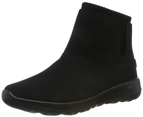 Skechers On-the-go Joy Botines Mujer, Negro (Black/Gray Suede/Textile Bkgy), 39 EU (6 UK)