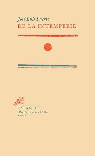 de-la-intemperie-spanish-edition