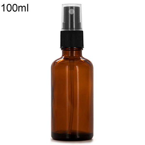 Livecity 10 / 15 / 20 / 30 / 50 / 100 ml leere bernsteinfarbene Glasflasche für ätherisches Öl.