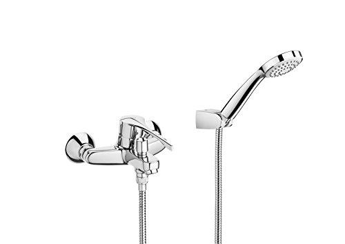 Roca Victoria - grifo exterior baño y ducha con inversor automático, ducha de mano, flexible de 1,70 m. y sopor . Griferías hidrosanitarias Monomando. Ref. A5A8423C00