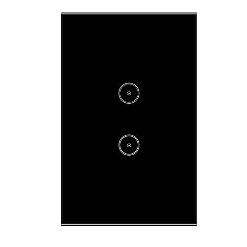 Applique da parete Jinvoo smart Wi-Fi Touch pannello US 2, smart time  switch, compatibile con iOS e Android, con Alexa Echo e Google Smart  Assistant,