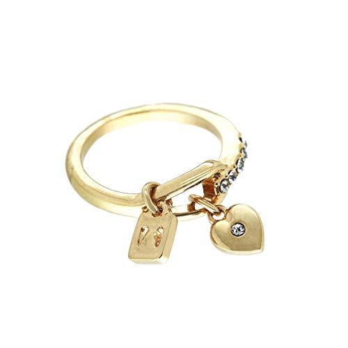 Sweet Deluxe Ring Laredo, Gold/Crystal I Damen-Ring I Mode-Schmuck Ring für Frauen I Ringe Rings für Mädchen I modisches Design-Accessoires