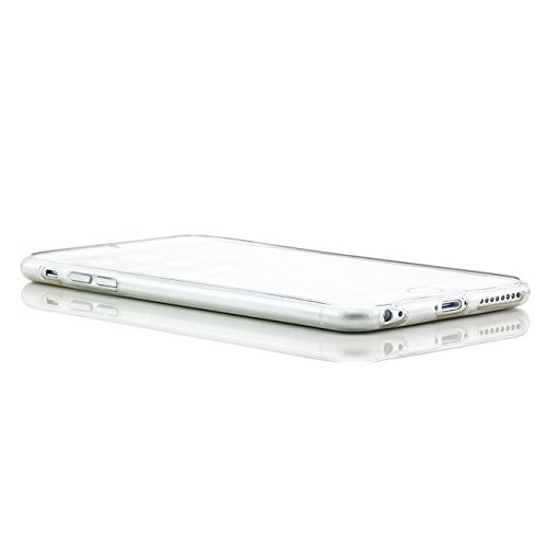 iphone 6 Plus / 6S Plus (5,5 Zoll) Hülle, Saxonia® Schutzhülle + Panzerglas Ultra Slim Silikon Case Handyhülle Back Cover Transparent Transparent