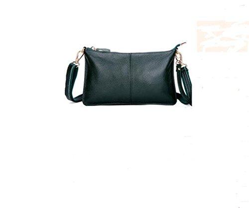 tutta la signora primo strato di messenger bag in pelle, borsa a mano, sacchetto di sera, borsa casual Dark green