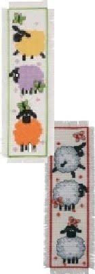 2Artikel Lesezeichen Kreuzstich Kit Bundle: Schaf. -