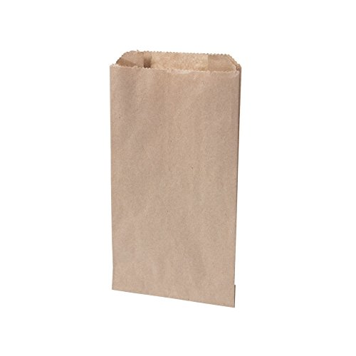 BIOZOYG Bio Papierbeutel Brötchentüten Faltenbeutel Papier-Tüten kompostierbar I Biologisch abbaubare Tüten für Brötchen Semmel Backwaren I 1000 Bäcker-Beutel Flachbeutel braun 10x5x18,5 cm