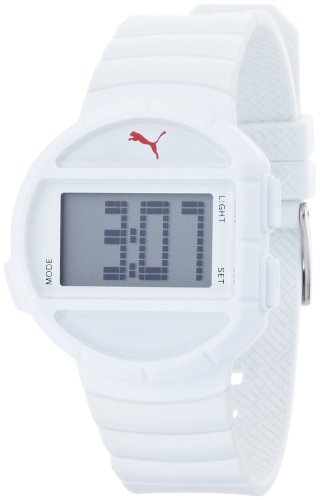 Puma Half Time – S PU910892001 – Ladies Watch – Digital Quartz – Grey Dial White Plastic Strap