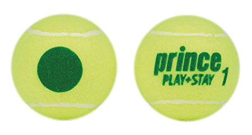 Prince Kids 'Play & Stay Stufe 1grünen Punkt Tennis, Gelb/Grün, kann von 3Kugeln -