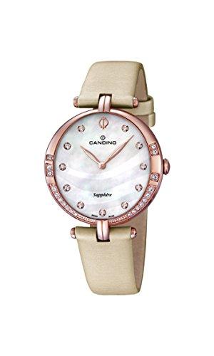 Candino - C4602/1 - Montre Femme - Quartz - Analogique - Bracelet Cuir beige