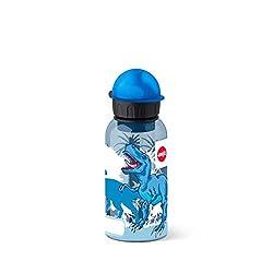 Emsa Kinder-Trinkflasche, 400 ml, Sicherheitsverschluss, Kids Dino, Tritan, 518127