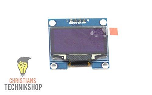 128 x 64 Pixel | SH1106 | I2C/IIC | blau | für Arduino, Raspberry Pi ()