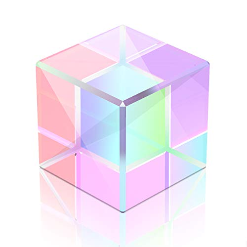 YoungRich Würfel Prisma Kristall Klar Prisma Optisches Glas für Physik Lehre Light Physical Lektionen Fenster Dekoration Lichtspektrum Sonnenlicht Reflektieren Fotografie 15 * 15 * 15mm