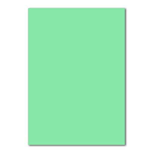 50 DIN A4 Papierbogen Planobogen -Mintgrün - 160 g/m² - 21 x 29,7 cm - Bastelbogen Ton-Papier Fotokarton Bastel-Papier Ton-Karton - FarbenFroh®