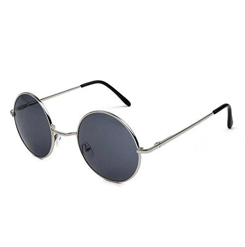 Sonnenbrille Herren Damen Btruely Polarisierte Sonnenbrille Round Männer Frauen Fahrbrille 2018 Neue Vintage Mirrored Unisex Treibenden Gläser Sportbrille Outdoor Sonnenbrillen Mode Glasse (D)