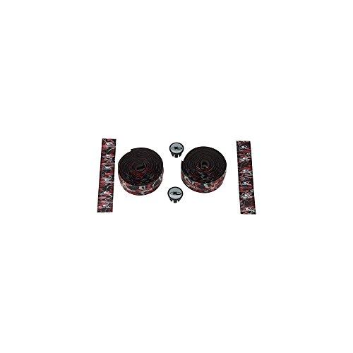 Lizard Skins li9702. WIL-Schleifenband Vorbau Fahrrad Unisex Erwachsene, Rot/Schwarz, 1,8mm - Skins Lenkerband Lizard