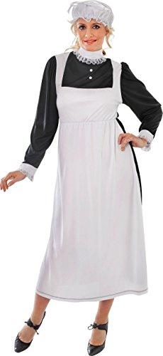 Florence Nightingale Erwachsene Damen Verkleidung Kostümparty Viktorianische Maid Kostüm