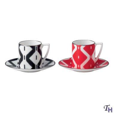 jasper-conran-espresso-tasse-untertasse-print-schwarz-und-rot