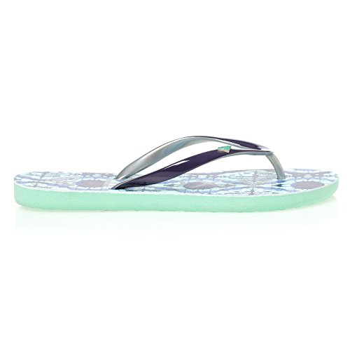Roxy MIMOSA V J SNDL IND ARJL100129-IND Damen Dusch & Badeschuhe Bleu - Turquoise/Silver