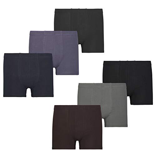 Mctam® Boxershorts Herren Unterhosen Männer 95% Baumwolle (Oeko-TEX® Standard 100) 6er Pack Basic Line, M, 6er Pack (Boxer Glücklichen Baumwolle)