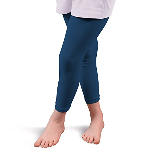 Kinder Thermo Leggings Blau-146 / 152 (Leggings Thermo Baumwolle)