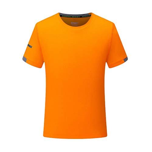 DEELIN Schnelltrocknend für Männer - Rundkragen/Atmungsaktiv/Kurzarm - Männer T-Shirt Sommer Übergröße Sport Schnell Trocknend Atmungsaktiv Top Bluse Lässige Oansatz Fitness Oberteile