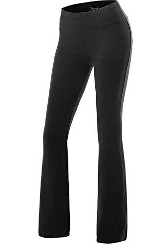 Fittoo pantaloni yoga donna yoga pants larghi eleganti sportivo, nero, s