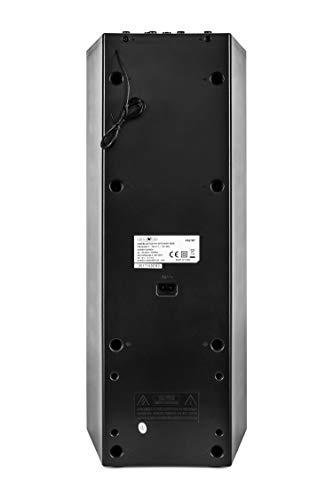 Reflexion PS07BT Mobile Discosoundmaschine (inkl. Bluetooth, Radio, 2x USB, AUX-IN, Karaokefunktion und Akku) schwarz - 7