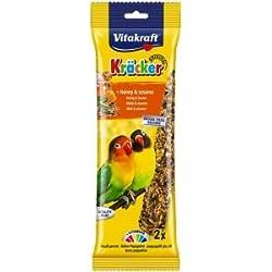 Vitakraft Kracker tratar de incienso para pájaros con miel y Barrio Sésamo, 2unidades, caso de 5