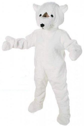 Eisbär Kostüm Maskottchen - Orlob Plüsch Kostüm Big Eisbär Maskottchen Bärenkostüm Karneval Fasching
