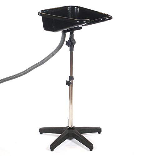 LOVECRAZY Lavacabeza Portátil Regulable y Basculante para Lavar Pelo, Color Negro (Negro)