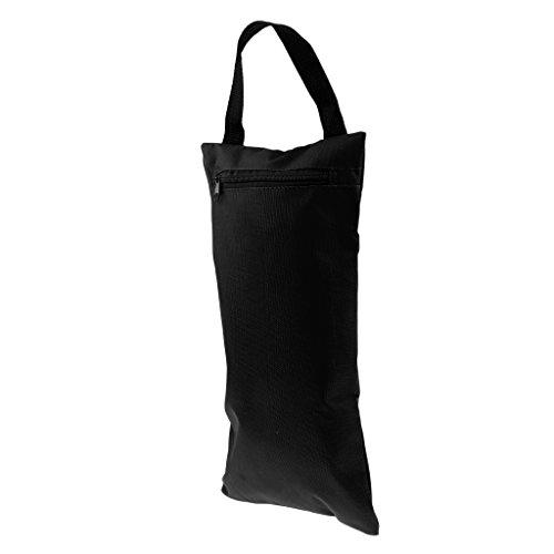 Unbekannt MagiDeal Sandsack und Wasserdicht Innensack aus Oxford-Tuch, Außentasche mit Tragegriff und Reißverschluss, geeignet für Yoga, Pilates, Fitness, Fotografie etc. - Schwarz