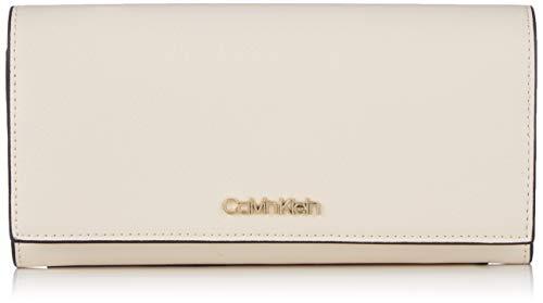 Calvin Klein Damen Avant Large Trifold Clutch, Grau (LIGHT SAND), 3.5x10x19 cm - Kleine Tri-fold
