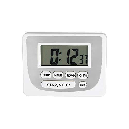 Kochen Timer Magnet, Mini elektronische Küche 24 Stunden Timer Countdown bis Kochen Wecker mit Batterie(Weiß) -