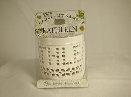 History & Heraldry Candlelit Names - Kathleen - Tea Light Lite Candle 001850123-HH by History & Heraldry